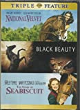 NATIONAL VELVET, BLACK BEAUTY, AND THE STORY OF SEABISCUIT TRIPLE FEATURE! MOVIES FEATURING MICKEY ROONEY, ELIZABETH TAYLOR, SHIRLEY TEMPLE, AND MORE!