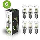 Lightvita (TM) (6-pack) S6 0.36-Watt LED Night Light bulb, 6-Watt Replacement and E12 Candelabra Base, Warm White 2900k 20 lumens