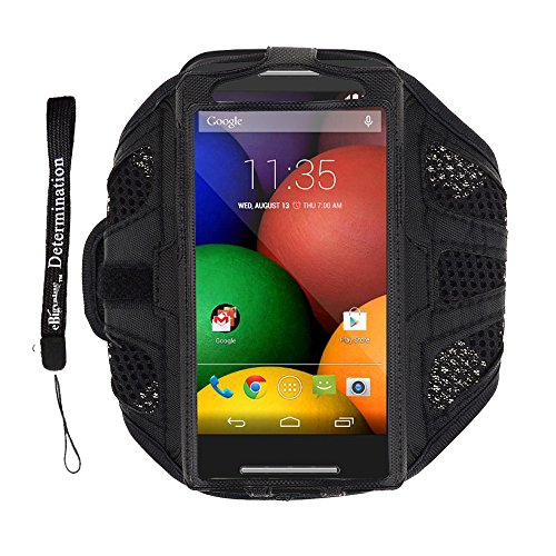 Black Polyester Mesh Fabric Sport Armband For Htc One V X S 8X 8S / Samsung Galaxy S4 / S3 + Ebigvalue Determination Hand Strap