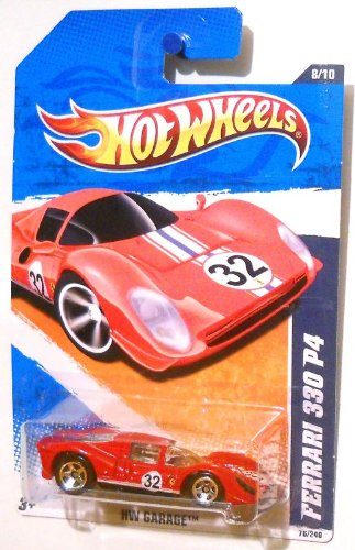 Hot Wheels 2010 76/240 - HW Garage 8/10 - Ferrari 330 P4, 1:64 Scale (Red)