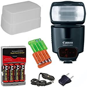 Canon Speedlite 430ex II Flash + Accessory Kit For Canon Eos Rebel T1i T2i T3 T3i T4i T5i Eos 7d & Eos 60d Digital Slr Cameras