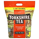 Taylors of Harrogate Yorkshire Tea 1200 Tea Bags 3kg - Pack of 2