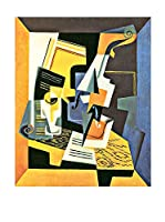 Especial Arte Lienzo Violin and glass - Juan Gris Multicolor