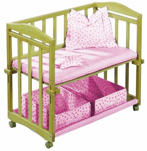roba 8943 zr stubenbett 4 in 1 rosa holz natur. Black Bedroom Furniture Sets. Home Design Ideas