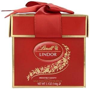 Lindt Lindor Truffles, Milk Chocolate Token Gift Box, 5.1 oz.