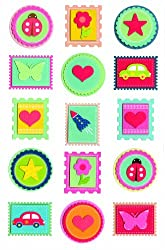 Martha Stewart Crafts Stickers, Bright Stamp