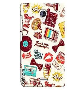Omnam Taste The Nostalagic Patter Designer Back Cover Case for Micromax Unite 2 A106