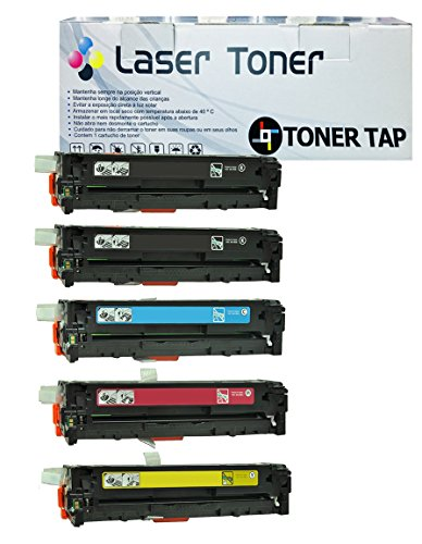 5PK Toner Tap (TM) Compatible for HP 131A 131X CF210X CF210A CF211A CF212A CF213A Toner Cartridge For Use In HP Color LaserJet Pro200 M251NW M276NW Laser Printers