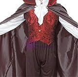 【ノーブランド品】ドラキュラ衣装大人用 マント・ズボン・ベスト・シャツ 手袋 コスプレ(衣裳+手袋【白】) コスプレ 仮装ウィッチバンパイア ハロウィン フリーサイズ 男メンズ 吸血鬼