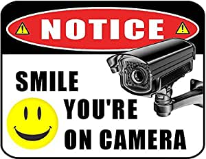 Amazon Com Quot Smile You Re On Camera Quot 11 Inch By 9 5 Inch