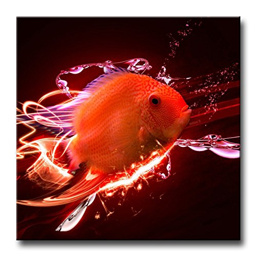 Red Wall Art Painting Magic Red Fish Prints On Canvas The Picture Animal Pictures Oil For Home Modern Decoration Print Decor
