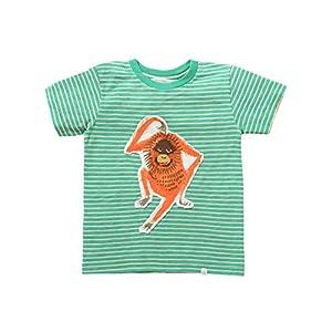 Rockin' Baby Big Boys Green Stripe Orangutan Applique Hunter Tee 8-10