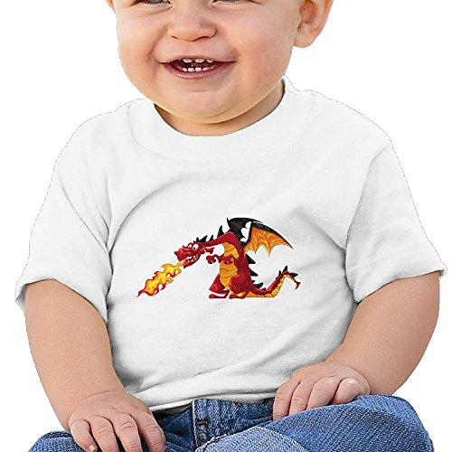 Bro-Custom Cartoon Firedrake Dragon Eruption Child Funny Tshirt White Size 12 Months