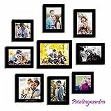 Soft Spot wall photo gallery- Set of 9 Individual wall Photo Frames