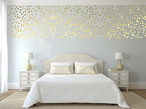 imprinted-designs-exclusive-metallic-gold-polka-dots-set-set-of-300-wall-decal-sticker-art