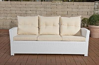 CLP Polyrattan 3er Sofa FISOLO, mit Aluminium Gestell - 100% rostfrei - inkl. Kissen & Auflagen, aus 4 Farben wählen von CLP bei Gartenmöbel von Du und Dein Garten
