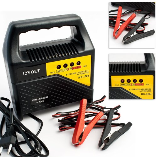 Relaxdays Batterie-Ladegerät 12 V / 4 Ampere