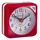 Technoline Geneva S Quartz Alarm Clock Red