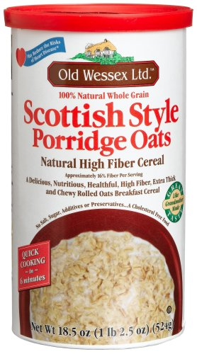 Old Wessex Ltd. Scottish Style Porridge Oats, 18.5-Ounce Canisters (Pack of 12)