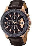 GUESS Men's U0364G3 Brown Chronograph Watch in Rose Gold-Tone Case