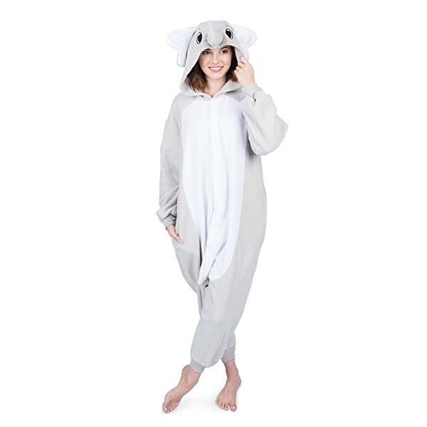 cb904deb79 Emolly Fashion Adult Elephant Animal Onesie Costume Pajamas for Adults and  Teens (Medium