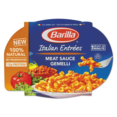 Barilla - Italian Entree, Gemelli With Meat Sauce, 9 Oz, Microwavable Tray, 6/Carton 1000010470 (Dmi Ct