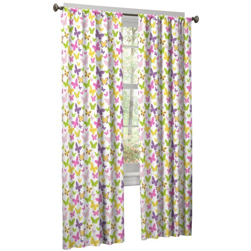 Maytex Mills Isabel 2-Pack Window Curtain, 40 By 84-Inch, White front-879002