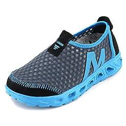 Aleader Boys Water Shoes Breathable Mesh Sport Sneakers Running (Little Kid/Big Kid) Gray 13.5 M US Little Kid