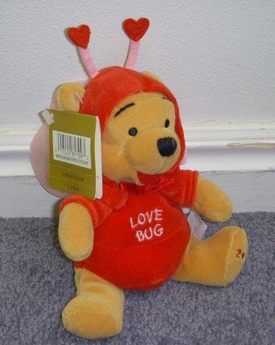 Disney Winnie the Pooh Love Bug 7 Inch Plush Bean Bag Love Bug Firefly Pooh Bear Doll - 1