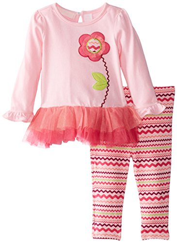 Kids Headquarters Baby-Girls Infant 2 Pieces Tunic With Print Leggings, Pink, 24 Months front-769520