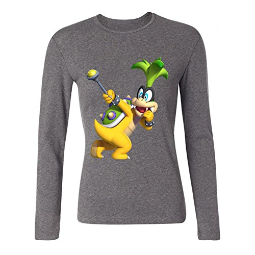 ZHENGXING Women's New Super Mario Bros U Bowser Koopa Long Sleeve T-shirt XL ColorName