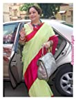 Sarees - Green and pink