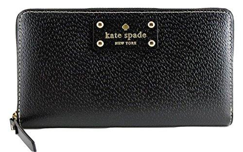Kate Spade Neda Wellesley Black Leather Zip Around Wallet