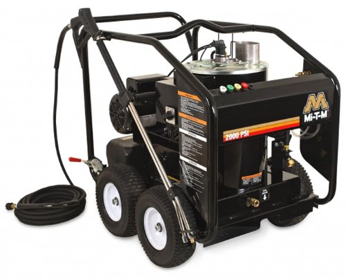 Mi-T-M Hse-1502-0Mg10 Hse Series Hot Water Electric Direct Drive, 2.0 Hp Motor, 120V, 19A, 1500 Psi Pressure Washer
