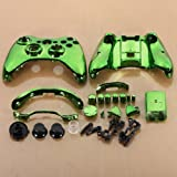SODIAL(R) Green Chrome Custom Wireless Controller Replacement Shell Case Kit for Xbox 360