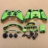 SODIAL (R) gruen Chrom individuelle Wireless-Controller Ersatz Schalenkoffer-Set fuer Xbox 360