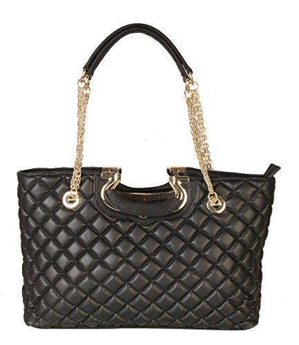diophy-womens-fashion-quilted-metal-handle-zipper-closure-handbag-xx-2833-black
