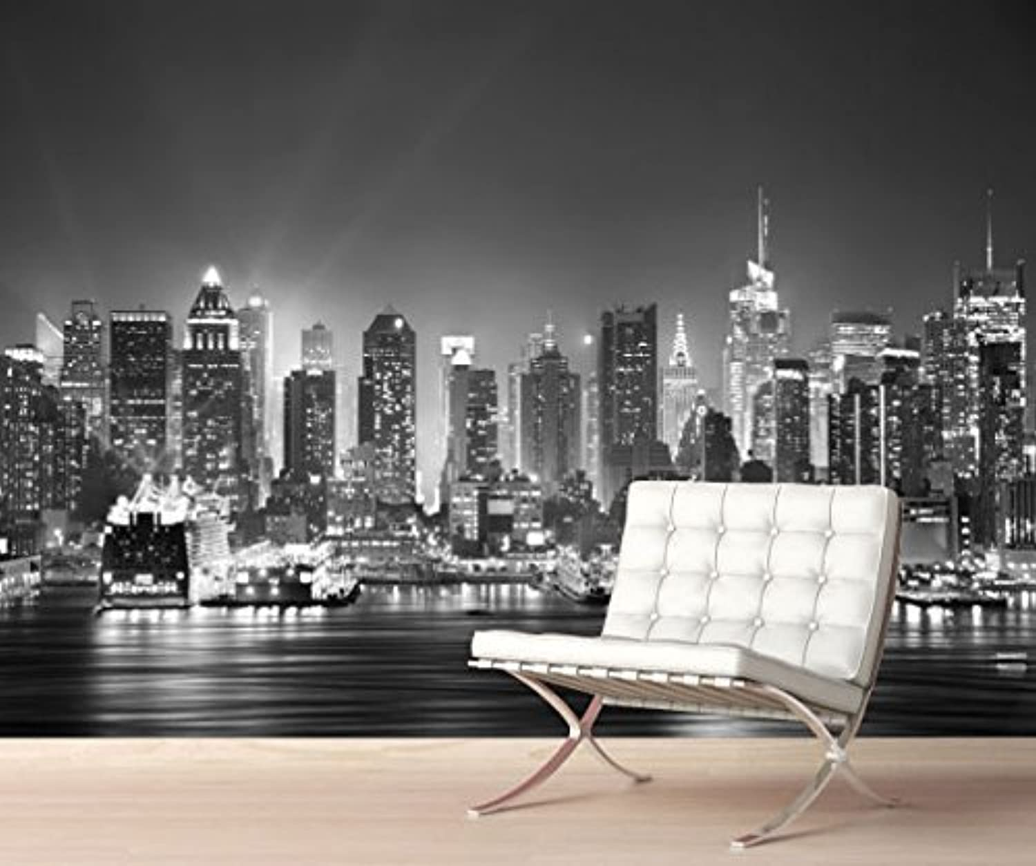 Stickerswall new york city skyline manhattan cityscape for Cityscape wall mural