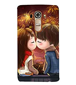Snapdilla Colouful Cartoon Fireworks Best Girlfriend Gift First Kiss Mobile Cover for LG G4 :: LG G4 Dual LTE :: LG G4 H818P H818N :: LG G4 H815 H815TR H815T H815P H812 H810 H811 LS991 VS986 US991