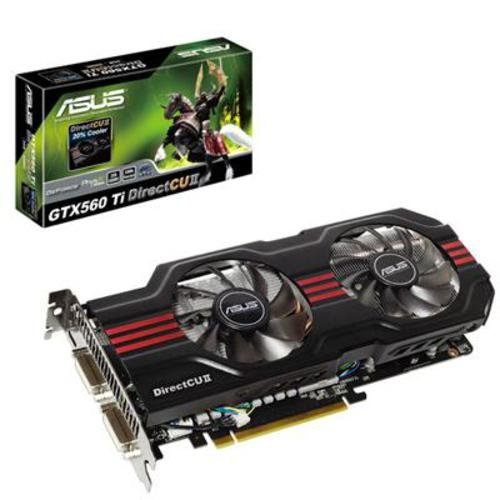 Asus Nvidia GeForce GTX 560Ti DirectCU Graphics Card (2GB, GDDR5, Mini HDMI, 2x DVI-I, Nvidia SLI Technology, Overclocked on Arrival)