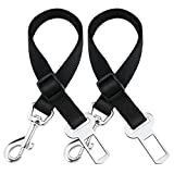 OMorc [2 Pack] Pet Safety Leads Car Vehicle Seat Belt Harness Seatbelt for Dogs/Cats, Nylon Material, 16-25 inch Adjustable - Black