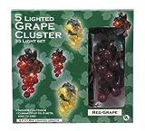 Darice LT80-1 35 Lights with 1/2-Inch Grape Cluster Light Set 6ft