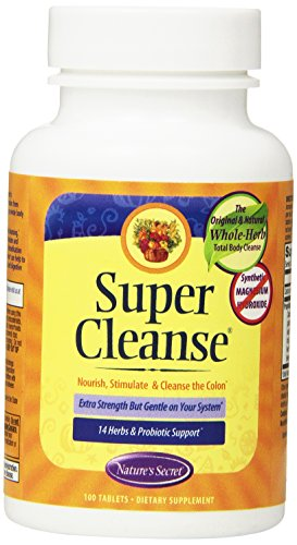 Nature's Secret Super Cleanse, 100 Tablets, 1 Bottle (Super Colon Cleanse compare prices)