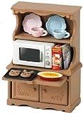 シルバニアファミリー 家具 食器棚・オーブンレンジセット カ-413