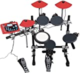 ddrum Digital Drums DD3X Electronic Drum Set, Black and Red