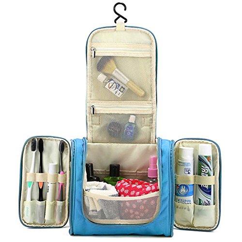 Hipiwe Beauty Case da Viaggio Borsa da Toilette Impiccagione Outdoor Pratico Cosmetici Borsa da Viaggio per Accessori Bagno (Azzurro)