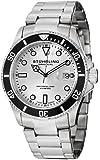 Stuhrling Original Men's 417.01 Aquadiver Regatta Espora Swiss Quartz Professional Diver Stainless Steel Bracelet Watch
