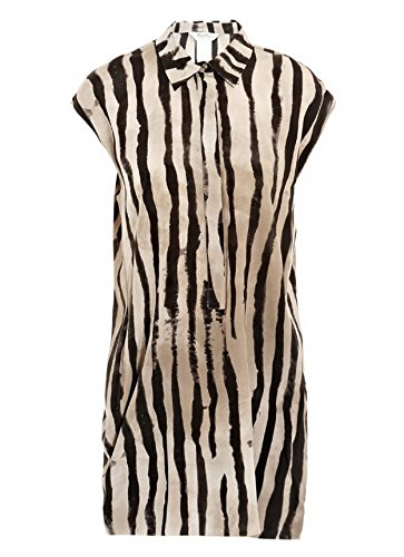 maxmara-womens-striped-silk-talento-tunic-top-sz-6-sand-brown-black-150086mm
