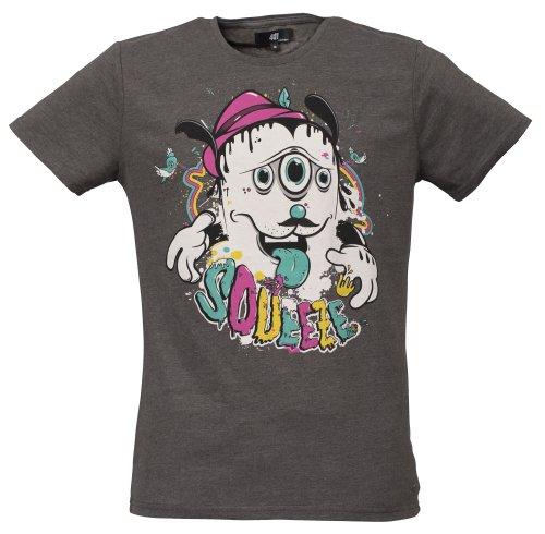 40by1 -  T-shirt - Camicia - Maniche corte - Uomo anthra melange 54