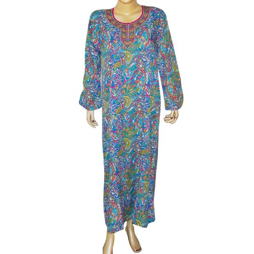 Indian Tunic Long Sleeve Viscose Caftan Size L (kftn860)